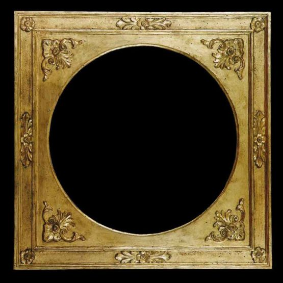 antique round picture frame
