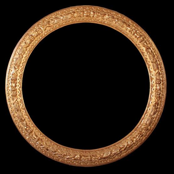 round antique frame